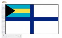 Bahamas Navy Reserve & State Ensign Courtesy Boat Flags (Roped and Toggled)